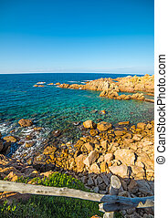 Clear sky over the sea - Costa Paradiso in spring, Sardinia