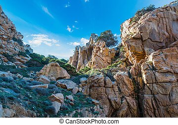Cliff in Sardinia - Costa Paradiso in spring, Sardinia