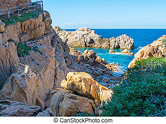 Rocky shore in spring - Costa Paradiso in spring, Sardinia