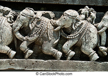 Indian elephants! - Indian elephants - sculptures at the...