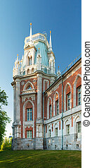 The grand palace in Tsaritsyno park in Moscow. - State...