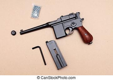 revólver, Arma, guerra, mundo, pistola, primero