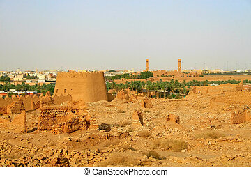 Ruins of Diriyah clay fortress in Riyadh, Saudi Arabia