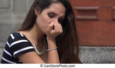 Teenage Girl And Depression