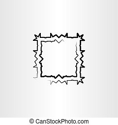 abstract square black frame vector background