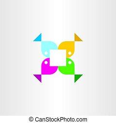 coloridos, peixe, sinal, vetorial, logotipo, ícone