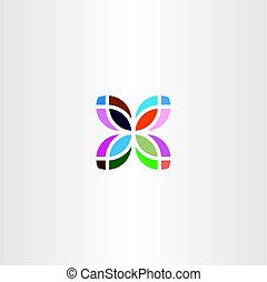 colorful leaf logo business icon symbol sign - colorful leaf...