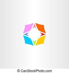カラフルである, シンボル, ベクトル, コンパス, ロゴ, アイコン