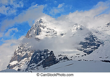 Eiger North face Famous mountain in the Jungfrau region...
