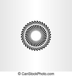 geometric optic illusion vector circle icon