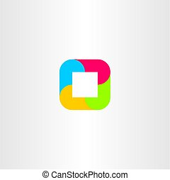 gometric logo abstract square business icon vector -...