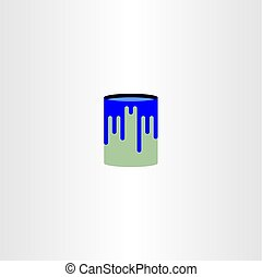 paint can vector logo icon symbol design