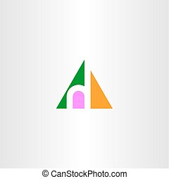 small letter h in triangle logo icon vector - small letter h...