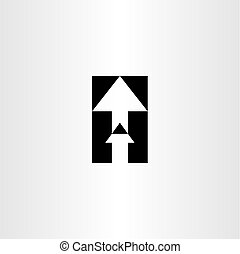 up arrow sign icon vector
