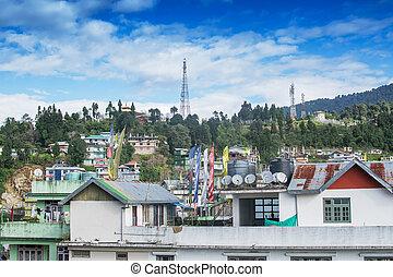 Cityscape of Rabangla, Sikkim, India