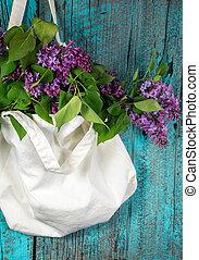 lilac bouquet in muslin sack - lilac bouquet in muslin...