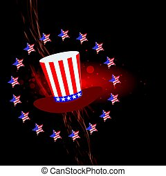 Independence day usa, vector. Illustration for your design.