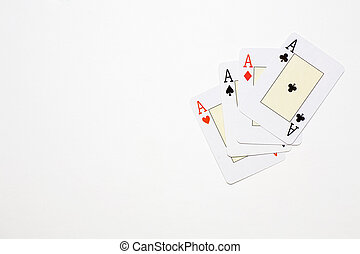 black and red aces - a poker of aces to win it all