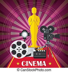 cinema poster with award - Main award of film academy, film...