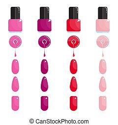 nail polish and nail set