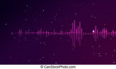Violet Tone-Modulated Wave - Computer-rendered animation for...