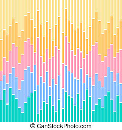 Bar Chart Stripes-Pastel Colours - Vertical stripes in...