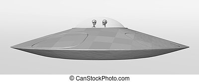 Flying saucer - Computer generated 3D illustration with a...