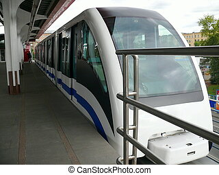 monorail train in Moscow