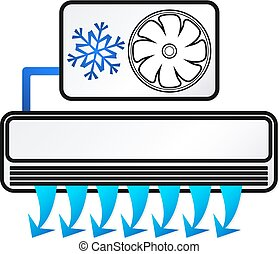 Air conditioning concept for building vector