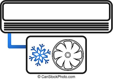 Air conditioning silhouette - Air conditioning concept for...