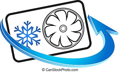 Air conditioning symbol for business