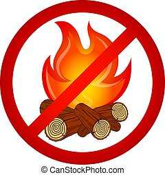 Kindle fire is prohibited - Kindle bonfire prohibited sign...