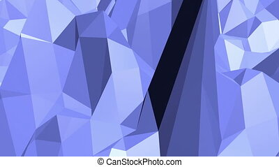 Blue low poly plastic surface as landscape or stylish 3D...