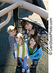 Portrait of children at park