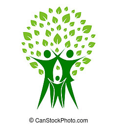Green family - A pictographic image of a green family