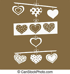 Love background - vector love background with hearts