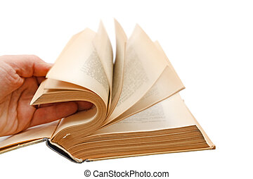 Hand leafing book