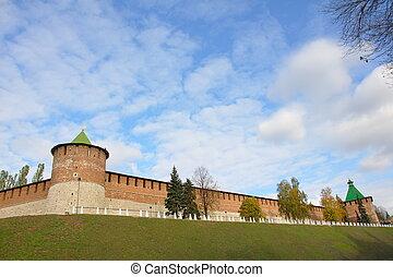 Kremlin wall - The south-west corner of the kremlin in...