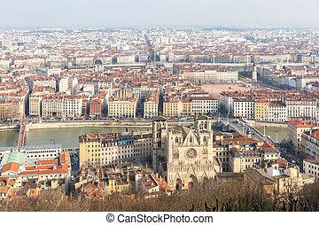 Lyon France - Aerial view Lyon France