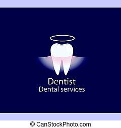 Medical dental background design with teeth. Vector illustration.