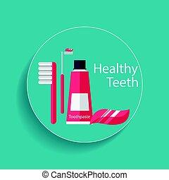 Medical dental background design. Vector illustration.