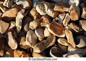 Flint Stone chips - Flint chips, stones used in landscaping...