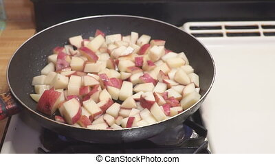 Potatoes fried in oil. French fries. Take to the potatoes in...