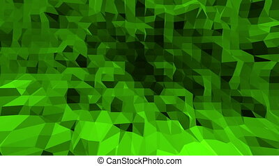 Green low poly background vibrating. Abstract low poly...