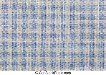 Blue cloth surface.