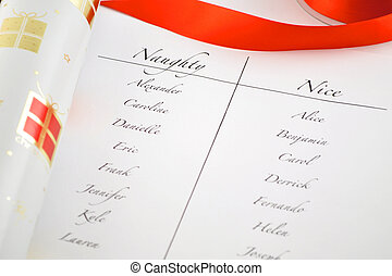 Naughty and Naughtier - Santas list of whos naughty and whos...