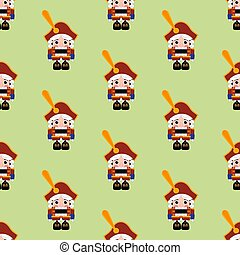 Nutcracker seamless pattern - Nutcracker pattern on the...
