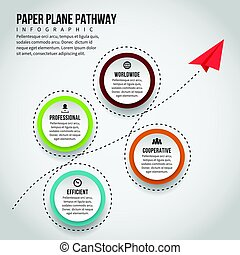 Paper Plane Pathway Infographic