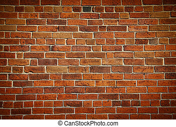 resistido, manchado, antigas, tijolo, parede