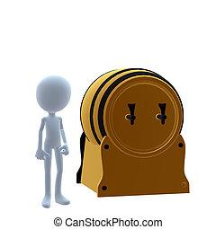 3D Guy Wtih A Keg